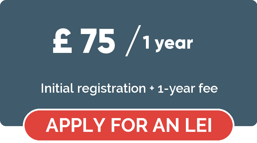 Legal Entity Identifier registration - Apply for a LEGAL ENTITY IDENTIFIER for 1 year