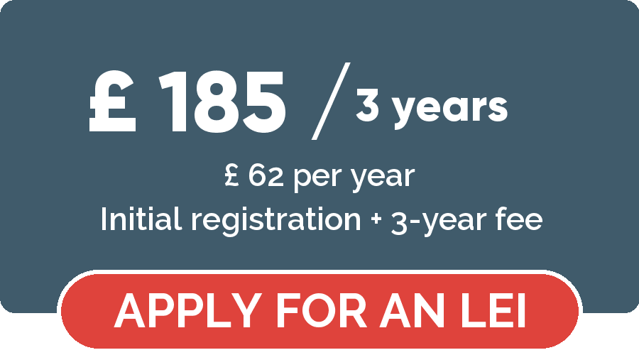 Legal Entity Identifier registration - Apply for a LEGAL ENTITY IDENTIFIER for 3 years